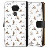 DeinDesign Étui Compatible avec Huawei Mate 30 Lite Étui Folio Étui magnétique Winnie l'ourson...