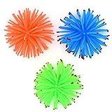 YMWALK Adorno para pecera de Acuario, 3 Piezas de Coral Suave, Bola de Erizo de mar Artificial, Adorno de anémona, decoración para Acuario (Verde, Naranja y Azul)