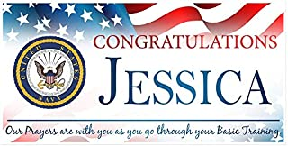 Congratulations U.S. Navy Armed Forces Military Personalized Banner