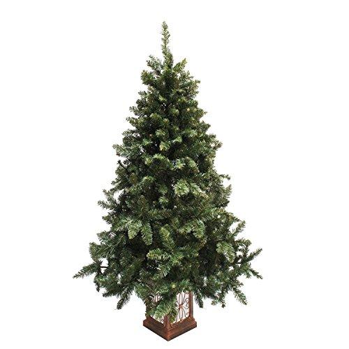 クリスマスツリー フィルムポットツリー 高級ポットツリー 組み立て式 (150cm, ワイド)