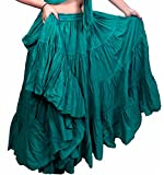 Teal Jade 25Yard Yardas Tribal Cotton Gypsy Belly Dancing Falda 09
