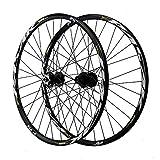 ZHENHZ Juego de Ruedas de Bicicleta 26/27.5/29'Juego de Ruedas de Bicicleta de Montaña Aleación de Aluminio de Doble Pared Llanta MTB Ruedas de Ciclismo,A,29'