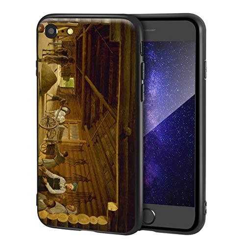 Berkin Arts Alexey Venetsianov Custodia per iPhone SE(2020)/iPhone 7/8/per Cellulare Arti/Stampa giclée a UV sulla Cover del Telefono(Trilla de Trilla)