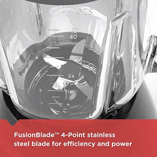 BLACK+DECKER Countertop Blender with 5-Cup Glass Jar, 10-Speed Settings, Black, BL2010BG