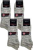world wide sox | Socken & Strümpfe für Herren | Flammgarn Extra Qualität | 12 Paar | natur-schwarz-blau Akzenten | 39-42