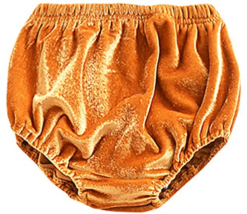 Arbest Toddler Infant Baby Girl Boy Shorts Basic Velvet Bloomers Shorts Loose Elastic Waist Harem Shorts Diaper Cover Panties (A Yellow,6-12 Months)