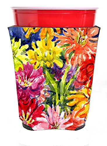 Caroline's Treasures Flower - Gerber Daisies Red Solo Cup Beverage Insulator Hugger