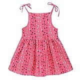 Vestido para bebé de 1 a 6 años, bohemio ajustable, tutú de princesa, para niña, vestido de noche, niña, ropa de bebé, ceremonia, fiesta, cumpleaños, bautizo, carnaval rosa fuerte 5-6 Años