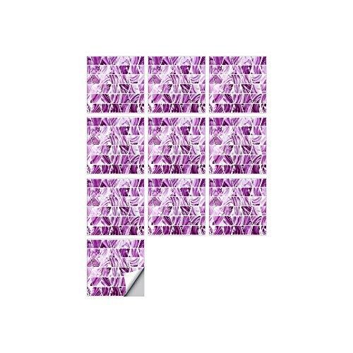 Leileixiao 10 PCS SIMULACIÓN 3D Auto Adhesivo Vinilo Papel Pantalón Peel and Stick Decorativo Calcomanías Impermeable Baño Mosaico Mosaico Pegatina (Color : FDJ017, Size : 20cmX20cmX10pcs)