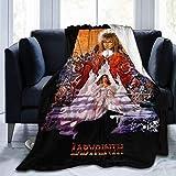 KINGAM David Bowie Labyrinth 1986 - Manta de forro polar suave, muy cálida, lujosa, ligera, difusa...