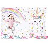 WERNNSAI Unicornio Manta de Hito Bebé - 150 x 100 cm Manta de Fotografía de...