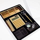 Set de suministros de escritorio de bienvenida – un set de suministros de escritorio adecuado para un regalo para aquellos que comienzan un nuevo comienzo dorado