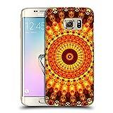 Head Case Designs Oficial Haroulita Orange Mandala 2 Carcasa rígida Compatible con Samsung Galaxy S7 Edge