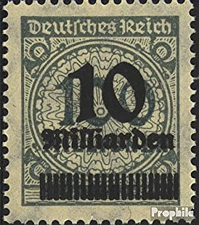 German Empire 337HT Anchor in Basket lid 1923 Hyperinflation (Stamps for Collectors)