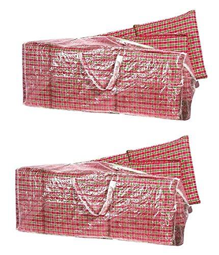 Fachhandel Plus 2er Set Tragetaschen Sitzkissen Hochlehner Abdeckung PE 125 cm