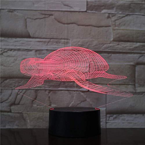 Sea Turtle Led Acrylique Night Light Avec 7 Couleurs Télécommande Pour Changer Les Lumières De Décor À La Maison