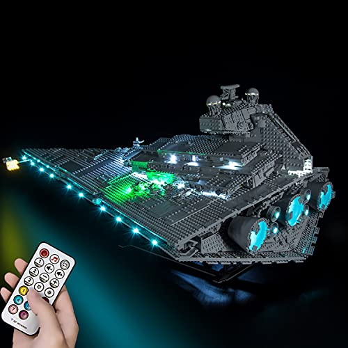 Hosdiy Upgrade Telecomando Luci LED Light Kit Compatibile con Lego 75252 Star Wars Imperial Star Destroyer - Luci LED Kit (Solo Luci, Senza Lego Modello)
