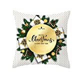 Watopi Weihnachten Kissenbezug Zierkissenbezug Glitter Polyester Sofa Dekokissen Cover Home Decor