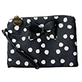 Red Valentino Women's Canvas Polka Dots Wristlet Clutch