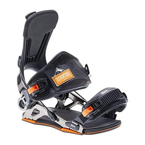 SP United Unisex– Erwachsene Mountain Snowboardbindung, Black, XL