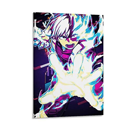DRAGON VINES Lienzo decorativo para pared, diseño de película abstracta de Anime My Hero Academia Todoroki Shoto para dormitorio, sala de estar, hogar, cocina, 30 x 45 cm