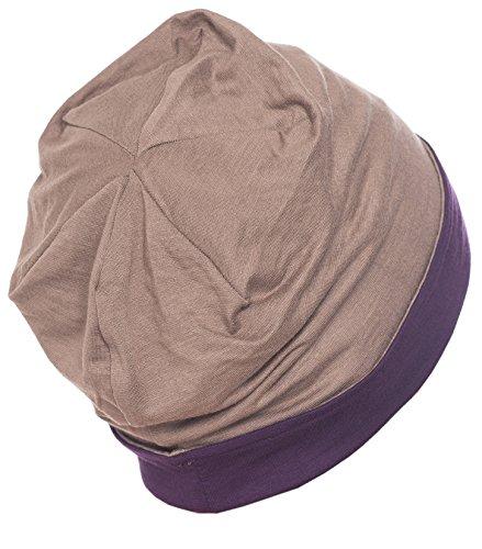 Deresina Headwear Unisex Reversible Beanie (Mulberry-Umber)