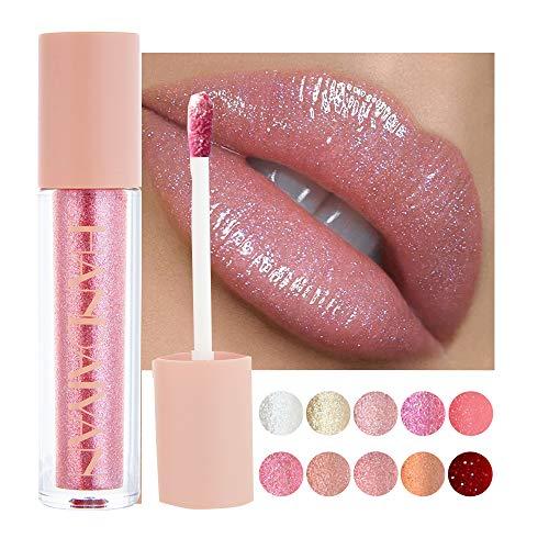 GL-Turelifes Shimmer Lipgloss Glitter Flüssiger Lippenstift Wasserdichter Lipgloss...