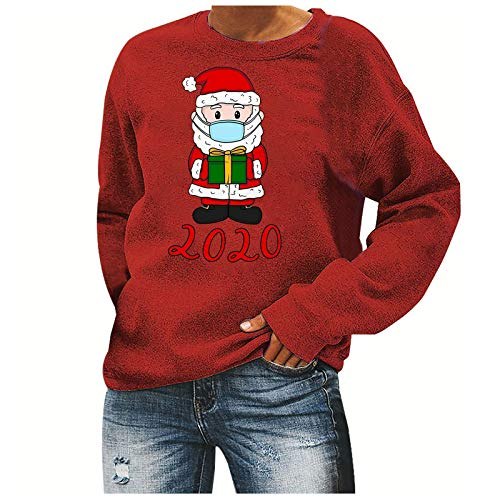 FEISI22 Santa Claws Cat Ugly Christmas Sweater Style Women Sweatshirt