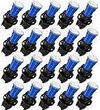 cciyu 20 Pack Blue T5 Wedge 3-3014 SMD LED 74 37 286 18 Dashboard Gauge Light Bulbs 12V w/ Twist Socket