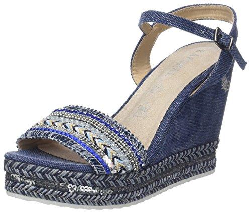 Kaporal TALI, Sandales Plateforme Femmes, Bleu (Bleu Jean), 39 EU