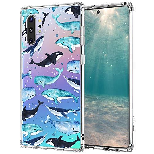 MOSNOVO Coque Galaxy Note 10 Plus, Coque Galaxy Note 10 Plus 5G, Lune Henné Mandala Clair Design Motif Transparente Arrière avec TPU Bumper Coque de Protection pour Samsung Galaxy Note 10 Plus