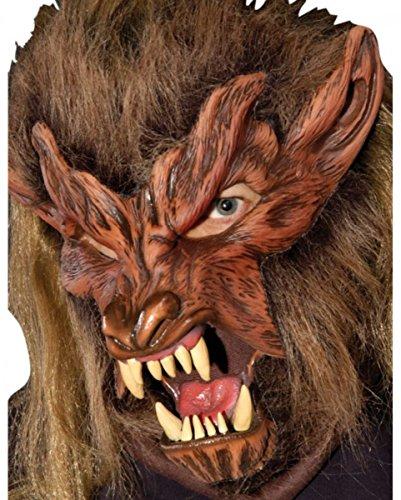 Braune Slasher Werwolf - Biest Maske für Märchen& Horror Fans