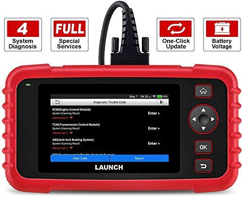 LAUNCH CRP123X obd2 Diagnosegerät,diagnosieren für 4 System (Motor/Getriebe /ABS/ SRS) lebenslang Software-Upgrade durch WiFi für Neuer Fahrzeuge.
