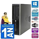 HP PC Compaq Pro 6300 SFF Intel G630 RAM 16Go Disque Dur 250Go Windows 10 WiFi...