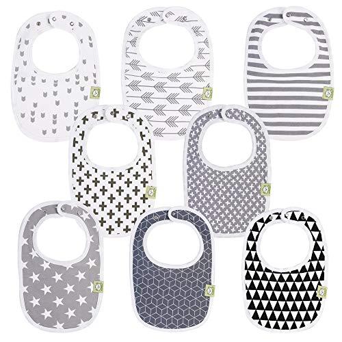Organic Baby Bibs for Boys & Girls - Organic Cotton Teething Bib -...