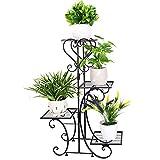 unho Metal Flower Display Stand Outdoor Garden Plant Holder...