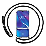 Tumundosmartphone Funda Colgante Transparente para OPPO RX17 Neo con Cordon Negro