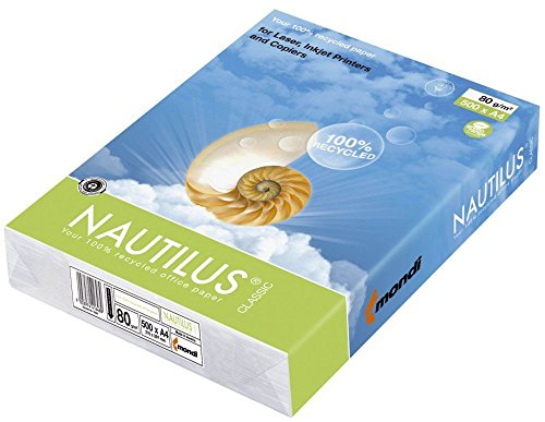 Mondi 88032442 Nautilus Classic – Hojas A4, 500 unidades, 80 g/m², color blanco