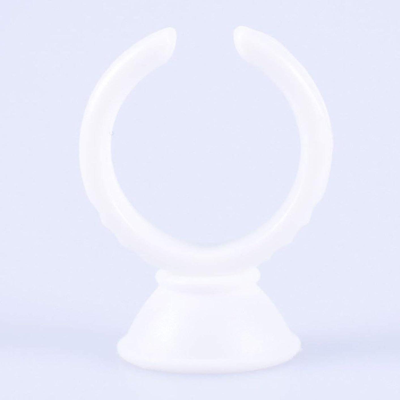 100ピース/セット小型まつげパレットホルダーセットまつげエクステンションタトゥー顔料用使い捨て接着剤ホルダーリングパレット(色:白)