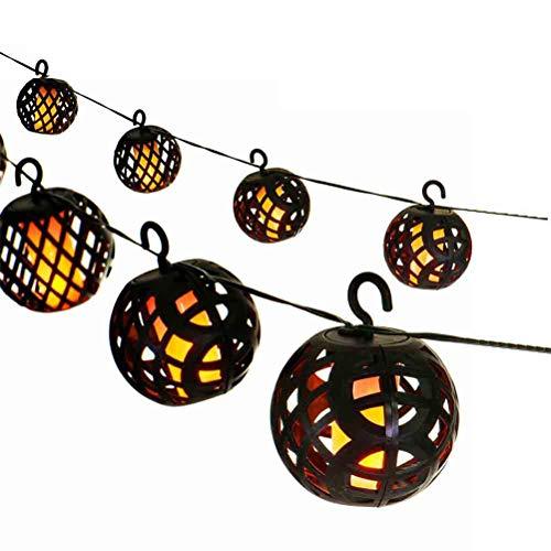 Mify Solar Laterne, LED Simulation Solar Flame Light Gartenleuchten Solar Lichterketten wasserdichte dekorative Lichter für Garten Hochzeit Weihnachtsdekoration