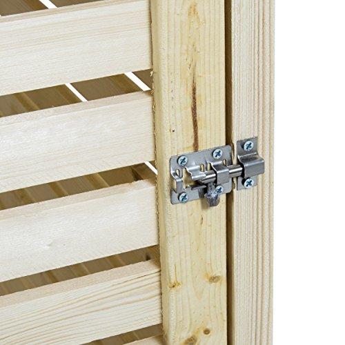 Charles Bentley – Mülltonnen-Verkleidung aus natürlichem Fichtenholz – für 2 Tonnen - 2
