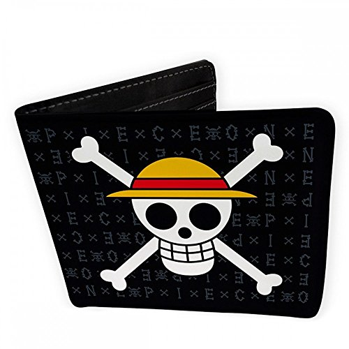 ABYstyle ABYABYBAG192 One Piece Skull Luffy Geldbörse Brieftasche schwarz 9,5x11cm