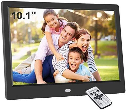 CHENNA 10,1 Zoll Digitaler Bilderrahmen Digitaler Bilderrahmen mit Bewegungs-Sensor-Funktion, Unterstützung SD/USB, 720P / 1080P Video/Musik/Bild Multi-Play-Modus, mit Kalender/Uhr