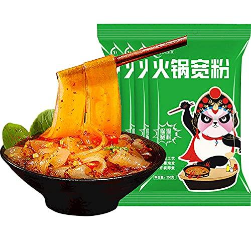 4Pack Sweet Potato Glass Noodles, Wide Glass Noodles Made By Sweet Potato Starch, for Hotpot Soup Japchae & Korean dish, Fat-free/Gluten-free/Vegan/Kosher (8.8oz4) 2.2lbs (4 Pack)