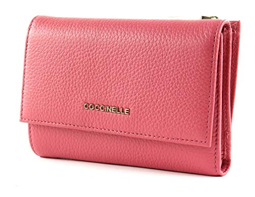 Coccinelle Flap Wallet metallico con Flap Wallet morbida Bouganville