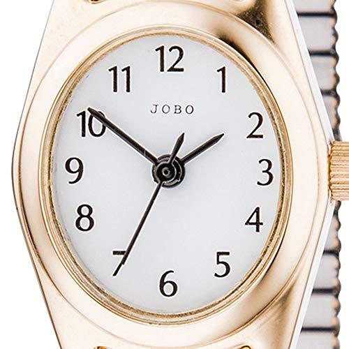 Jobo Mujer Reloj De Pulsera De Cuarzo Analógico De Acero Inoxidable Dorado Flex Cinta Mujer Reloj ovalado