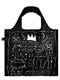 LOQI LOQI Jean Michel Basquiat Crown Bag - Bolso Bandolera (50 cm), Color marrón