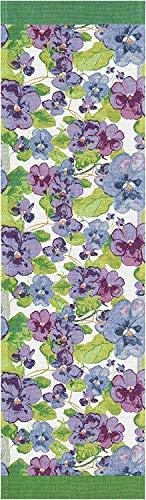 ekelund tischläufer tischdecke viol violett 35x120cm 100% bio-baumwolle