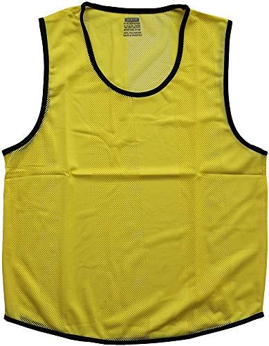Boje Sport - 12er Set Leibchen, Markierungshemd für Jugendliche Größe: M-L, Farbe: Gelb – für Fussball, Handball, Basketball, Hockey, Volleyball, Mannschaftssport, Teamsport