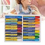 Crayón, artesanía precisa Se siente cómodo pastel al óleo para pintor para el hogar(New 18 colors (boxed), Santa Claus)